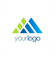 triangle shape company logo vector image vector image
