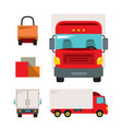 trucking flat style colorful cartoon vector image vector image