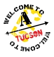Tucson stamp rubber grunge vector image