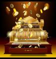 vintage cash register and money rain vector image vector image