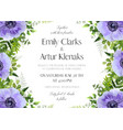 wedding floral invitation card design vector image