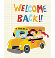 Welcome Back to School bus vector image vector image