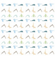 yoga poses silhouette background on white vector image
