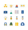 nuclear danger and safety icon set colorful icons vector image