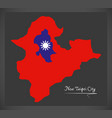 new taipei city taiwan map with taiwanese vector image