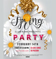 spring party flyer chamomile flower vector image