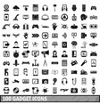 100 gadget icons set simple style vector image vector image