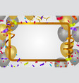 abstract happy birthday template vector image vector image