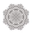 abstraction baby circular mandala vector image vector image