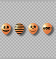 air balloons for halloween vector image
