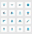 army colorful icons set collection of bullet vector image vector image