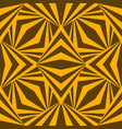 art abstract geometric african yellow brown vector image vector image