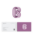 b letter consist three strips monogram business vector image vector image