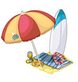 beach set for active rest lounge area vector image