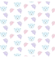bears pattern set vector image vector image