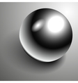 Beautiful 3D shiny natural Black Pearl vector image vector image