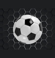 black and white football soccer background vector image vector image