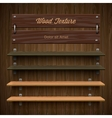 Blank wooden bookshelf vector image