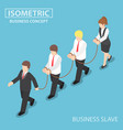 boss dominates his employee like a slave vector image vector image