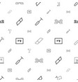 chalkboard icons pattern seamless white background vector image vector image