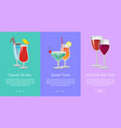 classic and 3d drinks for free ro have good time vector image