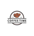 coffee seed hand drawn logo designs vector image