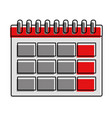 color calendar information day to organizer event vector image vector image