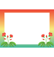 colored frame with red flowers vector image