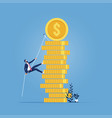 concept career and ambition at work vector image vector image