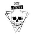 cool skull print for tshirt vector image vector image