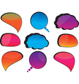 Cool speech bubbles vector image