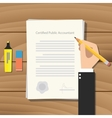 cpa certified public accountant vector image vector image