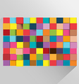 Cube Background Abstract Modern Color vector image vector image