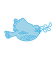 cute dove with olive branch vector image