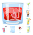 design cocktail and drink sign set of vector image