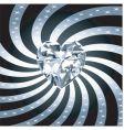 diamond heart rays vector image