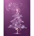 fir tree light 380 vector image vector image