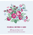 floral shabchic card - vintage design vector image vector image