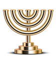 gold menorah vector image vector image