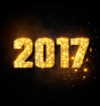 gold numeric 2017 christmas new year concept vector image