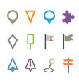 gps map pointer set isolated icon map pin concept vector image