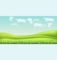 green field and sky background realistic vector image vector image