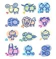 Hand drawn zodiac signs vector image