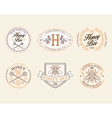 Honey and bees badges labels for any use vector image vector image
