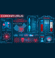 hud visualization coronavirus 2019-ncov epidemic vector image