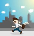 hurry time salary man cartoon lifestyle vector image