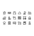 kitchen and cookware icons set 2 vector image vector image