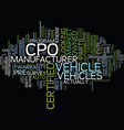 large part of auto market out for certified pre vector image vector image