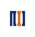 letter i square monogram logo vector image vector image