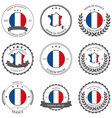 Made in France seals badges vector image